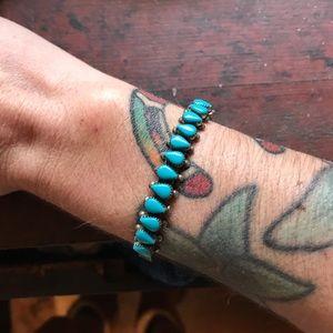 VTG Native American Turquoise Cuff Bracelet